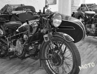 Le moto d'epoca nel Museo de Il Selvatico