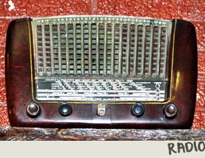 Radio d'epoca del Museo de Il Selvatico