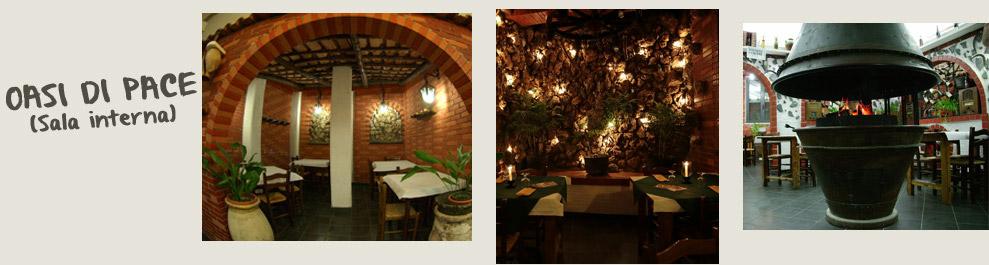 Oasi di pace: una delle 2 sale interne della pizzeria Il Selvatico